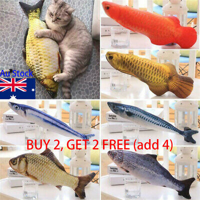 Pet Cat Play Fish Shape Mint Catnip Kitten Chewing Gifts Interactive Scratch Toy