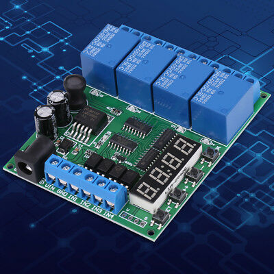 DC 5- 24V 4-Channel Multifunction Delay Time Timer Relay Switch Module ecl