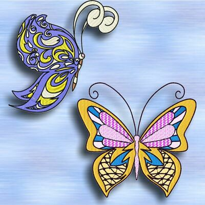 TRIBAL BUTTERFLIES  10 MACHINE EMBROIDERY DESIGNS CD or USB