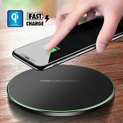 10W Qi Wireless Fast Charger Charging Pad Mat Metal For iPhone XS/XR/X/8/8 Plus
