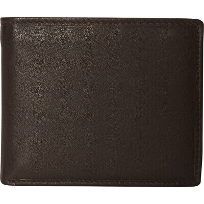 Mancini Leather Goods Men's RFID Secure Center Wing Men's Wallet NEW