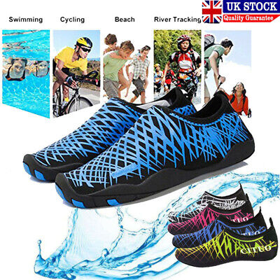 Men Women Water Shoes Aqua Shoes Beach Wet Wetsuit Shoes Swimming Surf Shoes EBO