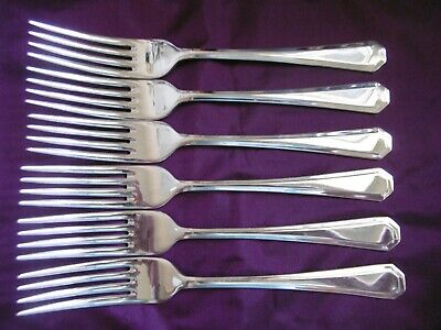 Lovelt Set Of 6 Cooper Ludham Silver Plated Epns A1 Athenian Dinner Forks