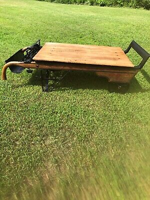 Antique weight scale coffee table