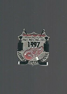 "Detroit Red Wings  ""1997 Stanley Cup Champions / logo #2""  NHL Hockey pin"