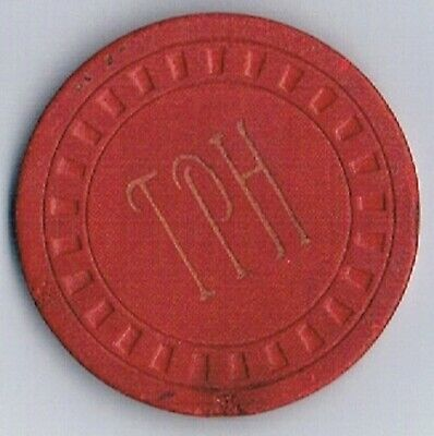 Talent Pool Hall Red Vintage Card Room Illegal Casino Chip Talent Oregon 1947