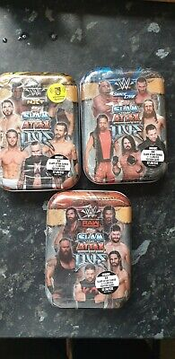 Topps WWE Slam Attax Live All 3 + 1 extra Mini Tins RAW-SMACKDOWN-NXT WWF WWE