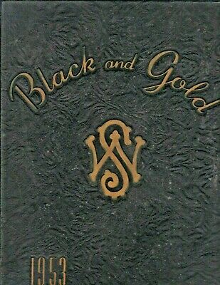 1953 Black and Gold Yearbook - Reynolds, Gray and Hanes High - NAMES in LISTING!