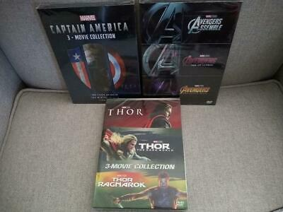 10 Marvel DVD Lot - Avengers 4 Movie Collection, Captain America & Thor Trilogy