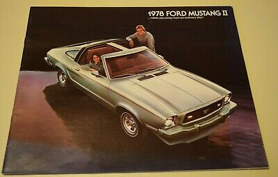 1978 Monroe Ford Mustang II #7 Vintage Car Poster Print Wall Art Sign Auto