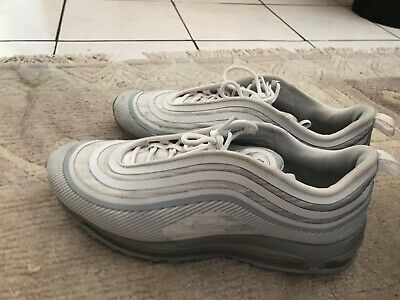 silver and white nike air max 97