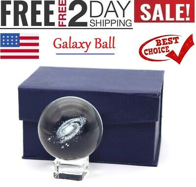 Galaxy Ball Globe Full Sphere Glass - Solar System Crystal Ball, Paperweight