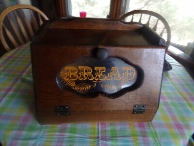 Vintage Country Rustic Kitchen Counter Bread Box