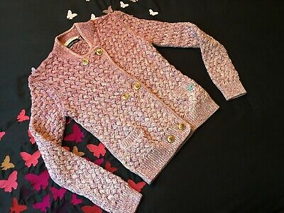 Scotch R'Belle gorgeous weave knit double breasted cardigan, Pink Ombre Sz10