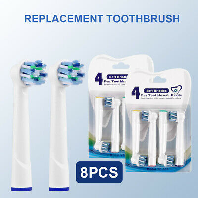 8pcs Electric Toothbrush Heads For Braun Oral B CrossAction Pro Health Oral Care