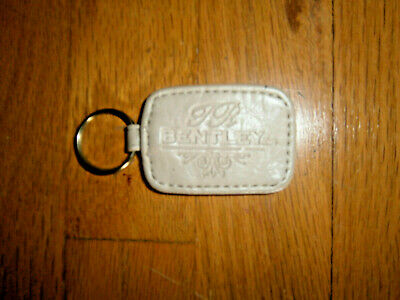 Vintage TR Bentley Tan Leather Fob Car Key Chain Ring Keychain L@@K!!