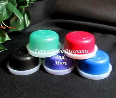 Tupperware NEW Set 5 Multi Color Smidgets Sheer Seals Mini Containers Lot # 2