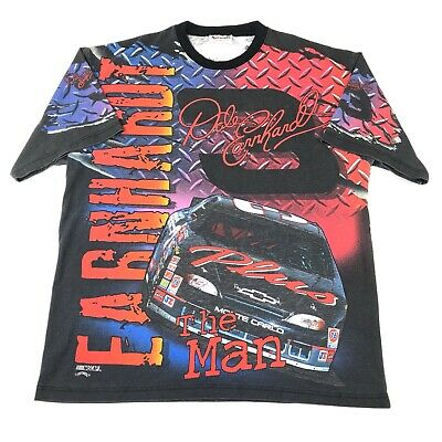 5f423a798ff7 Vintage Dale Earnhardt Racing T Shirt All Over Print Nascar Mens Size XL USA