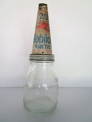Mobiloil Bottle Mobiloil Artic 20 One Imperial Pint Vacuum Australia  Tin Top