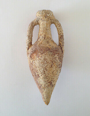 Antique Amphora Greek Roman Cone Pottery Vase Greece Ancient Rare Collectible