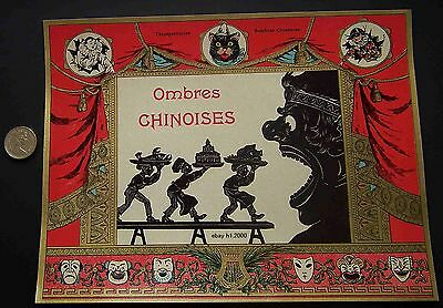 Antique Victorian French Litho Game Box Cover  Print
