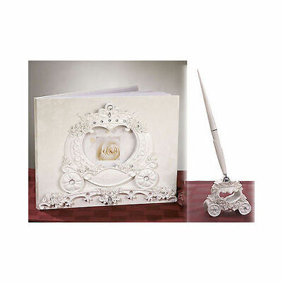 Fairytale Wedding Guest Book and Pen Set Guest Signature Signing