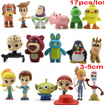 Toy Story 4 Set 17 Collectible Mini Figures Forky Ducky Bunny Gift Toy UK Stock