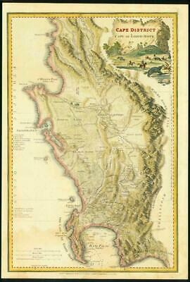 1836 Antique Map - South Africa CAPE DISTRICT CAPE OF GOOD HOPE by Wyld (LM6)