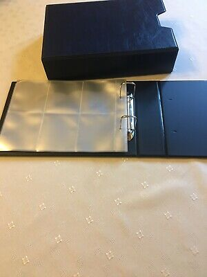 PADDED Album 2 RING BINDER WITH 10 Sleeves And SLIPCASE For Sugar Bags Or Cards