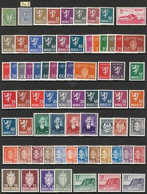 NORWAY 1910-1957 PRISTINE MNH/MUH MINT STAMP COLLECTION incl #131 Die B
