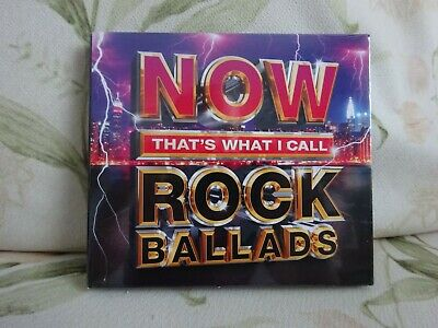 Now thats what i call Rock ballads- Cd - Various - new - Free Uk Postage