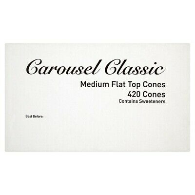 Carousel Classic Medium Flat Top Cones 420 Cones 115122 Ice Cream Shop Parlour