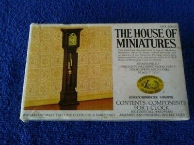 Xacto House of Minatures Grandfather Clock ( William and Mary Tall Case) NIB