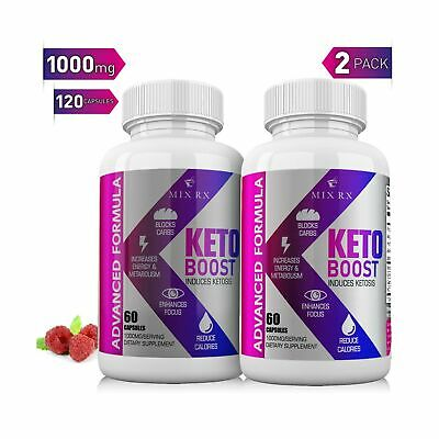 (2 Pack 120 Capsules) Best Keto Diet Pills with Carb Blocker