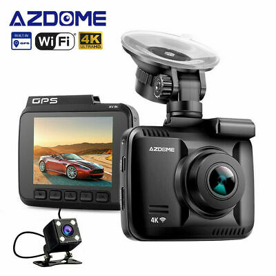 AZDOME GS63D Dual Lens Built in GPS WiFi Front 4K+Rear VGA Night Vision Dash Cam