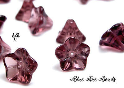 BFB *BIN BARGAINS* Pressed Glass Bell Flower Beads 9mm x