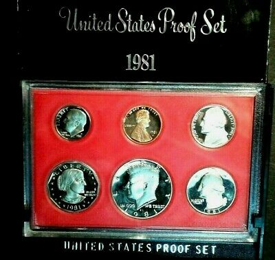 1981- S  US  Complete  Proof Clad  Six Coin  Set  Susan B Anthony Free Shipping