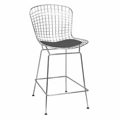 Brilliant Modern Bertoia Counter Stool With Seat Pad Wire Counter Beatyapartments Chair Design Images Beatyapartmentscom
