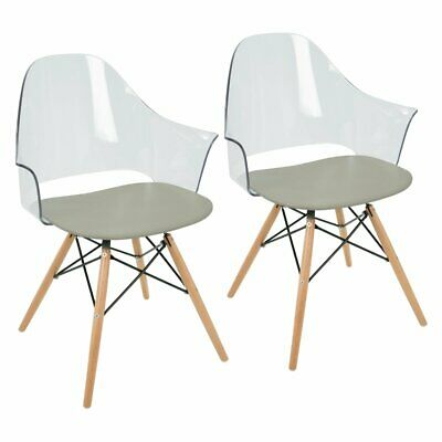 LumiSource Tonic Mid-Century Modern Accent Arm Chair - Set of 2
