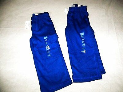 Lot of 2 NEW  Boys Size 2T  Childrens Place Blue Cargo Sweat Pants