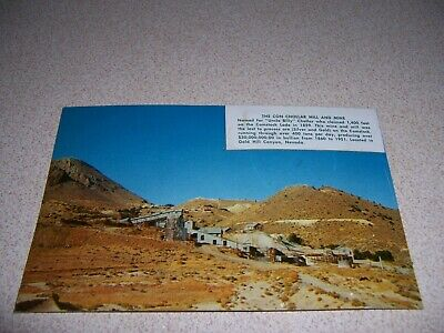 1950s THE CON CHOLLAR MILL & MINE GOLD HILL CANYON, NV. VTG POSTCARD