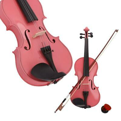 1/4 Basswood Acoustic Violin Fiddle w/ Case Bow Rosin for Beginner 6-8 years old