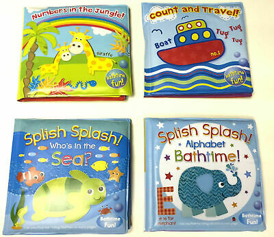 New Baby Bath Books Plastic Coated Fun Educational Toys For Children Waterproof