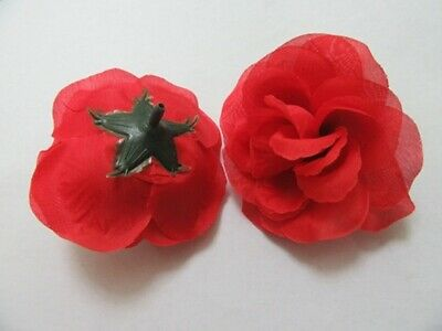 100X Artificial Red Rose Flower Head Buds