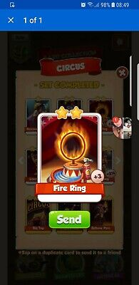 Coin Master Fire Ring 15x Cards