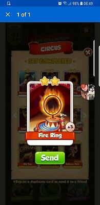 Coin Master Fire Ring 20x Cards