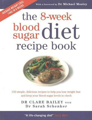 8-week Blood Sugar Diet Recipe Book by Clare Bailey Paperback Book Free Shipping