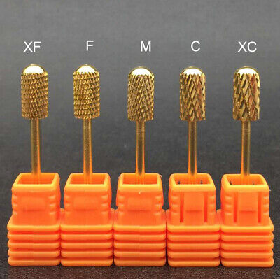 Quality Golden Nail Drill Bit Tungsten Carbide Electric Pedicure Manicure Tools