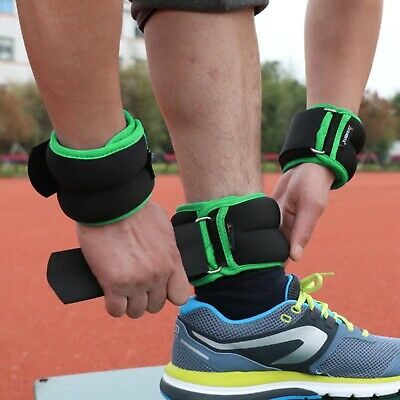 Gym Wrist Ankle Weighted Straps Resistance Strength Training Exercise Bracelets