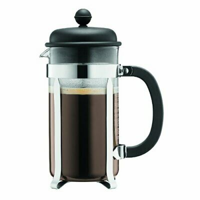 Bodum Caffettiera French Press Coffee Maker, Black Plastic Lid and Stainless